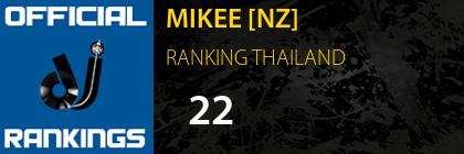 MIKEE [NZ] RANKING THAILAND