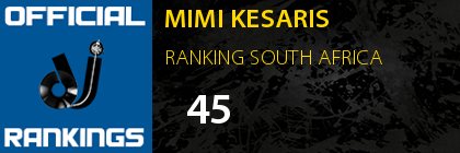 MIMI KESARIS RANKING SOUTH AFRICA