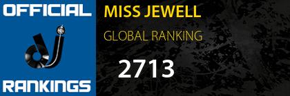 MISS JEWELL GLOBAL RANKING