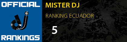 MISTER DJ RANKING ECUADOR
