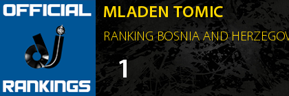 MLADEN TOMIC RANKING BOSNIA AND HERZEGOVINA