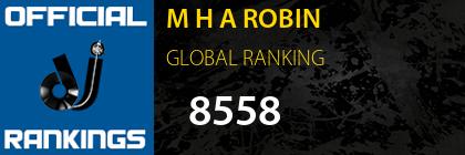 M H A ROBIN GLOBAL RANKING