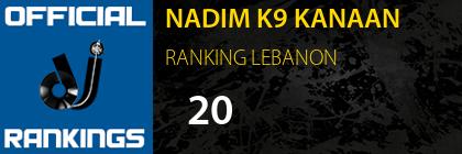 NADIM K9 KANAAN RANKING LEBANON