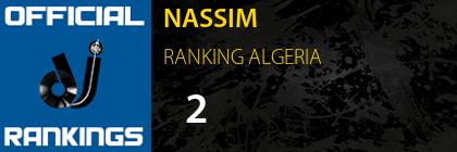 NASSIM RANKING ALGERIA