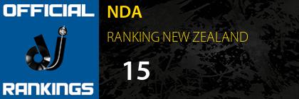 NDA RANKING NEW ZEALAND