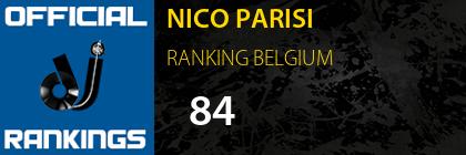 NICO PARISI RANKING BELGIUM