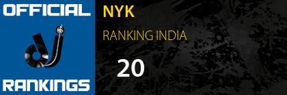 NYK RANKING INDIA