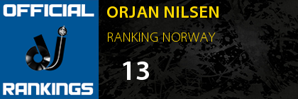 ORJAN NILSEN RANKING NORWAY