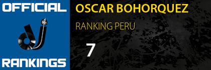 OSCAR BOHORQUEZ RANKING PERU