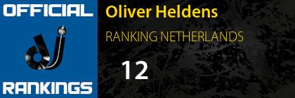Oliver Heldens RANKING NETHERLANDS