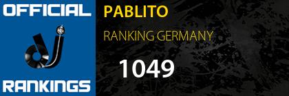 PABLITO RANKING GERMANY