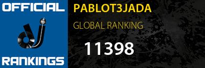 PABLOT3JADA GLOBAL RANKING