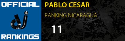 PABLO CESAR RANKING NICARAGUA