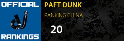 PAFT DUNK RANKING CHINA