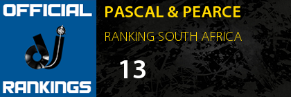 PASCAL & PEARCE RANKING SOUTH AFRICA