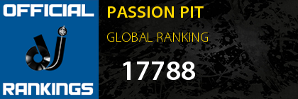 PASSION PIT GLOBAL RANKING