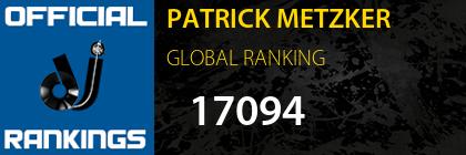 PATRICK METZKER GLOBAL RANKING