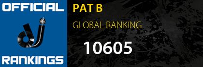 PAT B GLOBAL RANKING