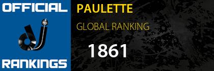 PAULETTE GLOBAL RANKING