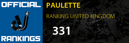 PAULETTE RANKING UNITED KINGDOM