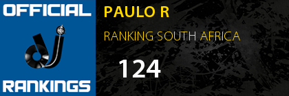 PAULO R RANKING SOUTH AFRICA