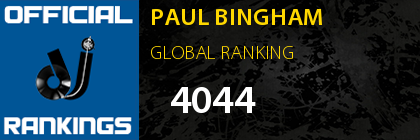 PAUL BINGHAM GLOBAL RANKING