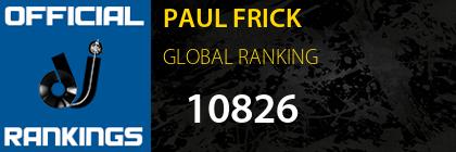 PAUL FRICK GLOBAL RANKING