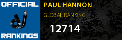 PAUL HANNON GLOBAL RANKING
