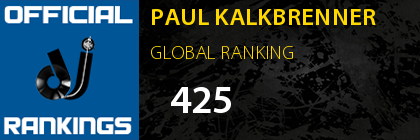PAUL KALKBRENNER GLOBAL RANKING