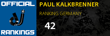 PAUL KALKBRENNER RANKING GERMANY