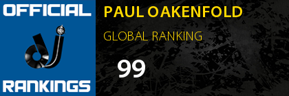 PAUL OAKENFOLD GLOBAL RANKING
