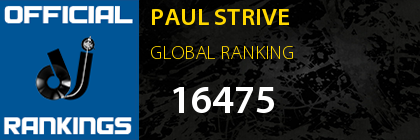 PAUL STRIVE GLOBAL RANKING