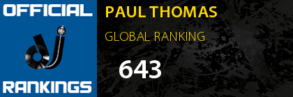 PAUL THOMAS GLOBAL RANKING