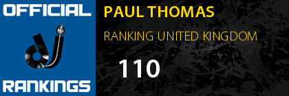 PAUL THOMAS RANKING UNITED KINGDOM
