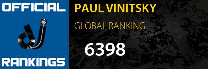 PAUL VINITSKY GLOBAL RANKING