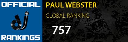 PAUL WEBSTER GLOBAL RANKING