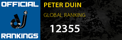 PETER DUIN GLOBAL RANKING