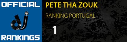 PETE THA ZOUK RANKING PORTUGAL
