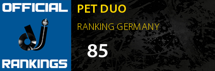 PET DUO RANKING GERMANY