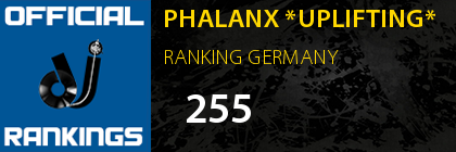 PHALANX *UPLIFTING* RANKING GERMANY