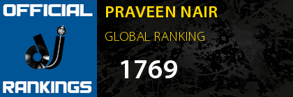 PRAVEEN NAIR GLOBAL RANKING