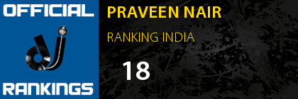 PRAVEEN NAIR RANKING INDIA