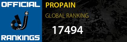 PROPAIN GLOBAL RANKING