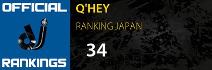 Q'HEY RANKING JAPAN