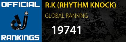 R.K (RHYTHM KNOCK) GLOBAL RANKING