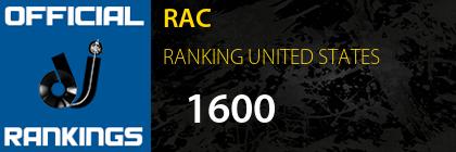 RAC RANKING UNITED STATES