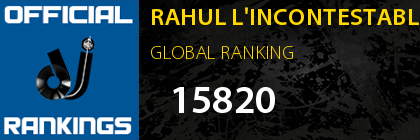 RAHUL L'INCONTESTABLE GLOBAL RANKING