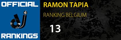 RAMON TAPIA RANKING BELGIUM