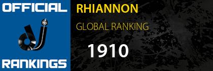 RHIANNON GLOBAL RANKING