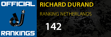 RICHARD DURAND RANKING NETHERLANDS